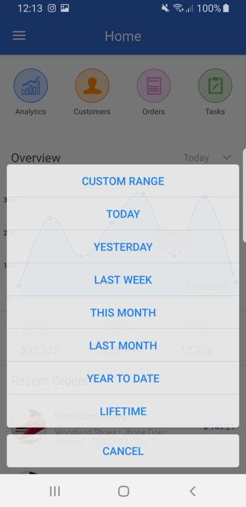 dashboard app templates