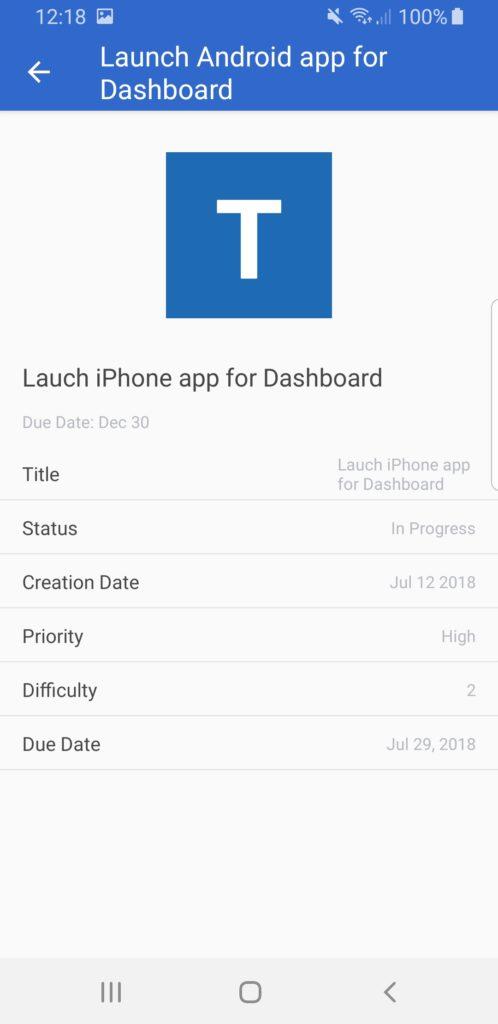 task app template