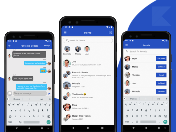 android chat app template