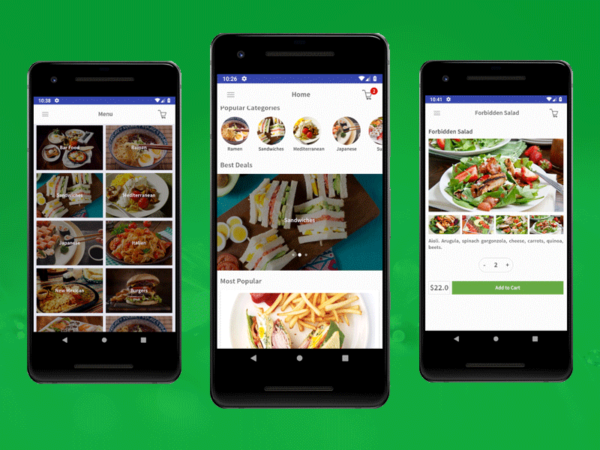 android restaurant app template